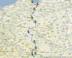 Provisional route- Cycle Poland 2011